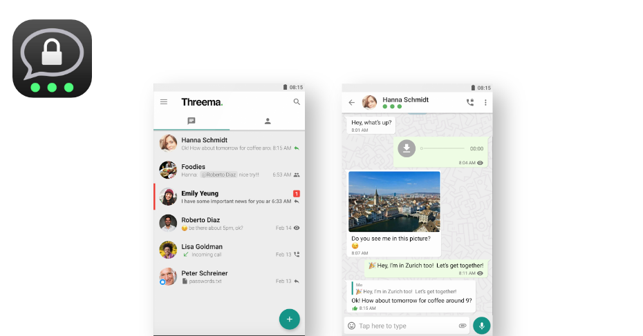 messaging apps for android, Threema
