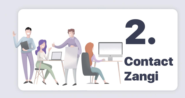 create your own whatsapp with zangi step 2